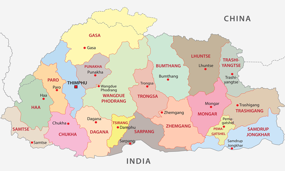 Bhutanmap